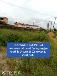 Full Dry Plot Of Comatial Land With Registered Title Good For Everything Facing The Road On A Good Environment Commercial Land for Sale Ipaja Lagos Vetra  Property
