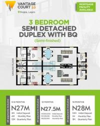 Semi-detached 3 Bedroom Duplex For Sale In Bogije 3 bedroom Semi-Detached Duplex for Sale Lekki Lagos Vetra  Property