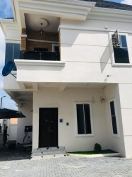 Tastefully Finished 4bedroom Semi Detached Duplex For Sale With Bq Location: In A Mini Court , At Ologolo Lekki Phase 2, After Ist Toll Gate  4 bedroom Semi-Detached Duplex for Sale Lekki Lagos Vetra  Property