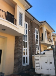 *lovely Distressed 4 Bedroom Semi Detached Duplex With A Bq Attached Also In A Secure Estate In Ologolo, (south Lakes Estate) 4 bedroom Semi-Detached Duplex for Sale Lekki Lagos Vetra  Property