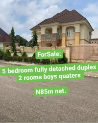 Newlybuilt And Tastefully Finished Detached 5bedroom Duplex With 2rooms B/q For Sale In Gwarinpa.  5 bedroom Detached Duplex for Sale Gwarinpa Abuja Vetra  Property