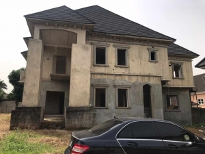 Fully Detached Carcass 6bedroom Duplex With 1bedroom Guest Chalet And 2rooms B/q For Sale In Gwarinpa.  6 bedroom Detached Duplex for Sale Gwarinpa Abuja Vetra  Property