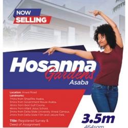 Hosanna Gardens, Anwai Road Asaba, On Promo! Mixed Land for Sale Asaba Delta Vetra  Property