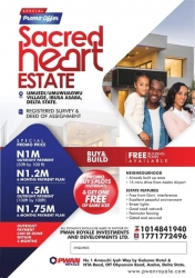 Land In Sacred Heart Estate, Asaba Mixed Land for Sale Asaba Delta Vetra  Property