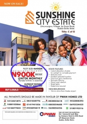 Residential And Commercial Plots Of Land In Sunshine City Estate, Asaba Mixed Land for Sale Asaba Delta Vetra  Property