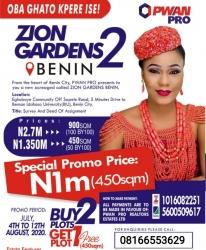 Zion Luxury Garden Estate Benin Mixed Land for Sale Central Edo Vetra  Property