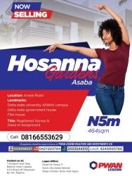 Hosanna Luxury Garden Asaba Mixed Land for Sale Asaba Delta Vetra  Property
