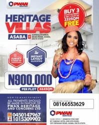 Heritage Villas Admiralty Asaba Mixed Land for Sale Asaba Delta Vetra  Property
