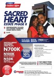 Sacred Heart Estate Phase 2 Residential Land for Sale Asaba Delta Vetra  Property