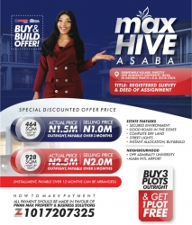 Max Hive Estate Asaba Mixed Land for Sale Asaba Delta Vetra  Property