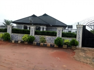 Standard 2flat Of Four Bedroom At The Front And 2bedroom At The Back With 5 Stores For Sale Detached Bungalow for Sale Oredo Edo Vetra  Property