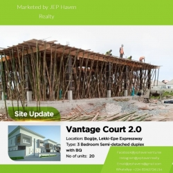 Units Of Newly Built 3 Bedroom Semi Duplexes, Fully Finished  3 bedroom House for Sale Ajah Lagos Vetra  Property