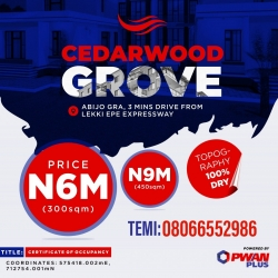 Good Title Land At Abijo Gra ( Cedarwood Groove) Mixed Land for Sale Ajah Lagos Vetra  Property
