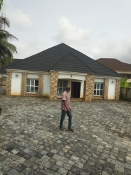 Standard Office Type Bungalow In A Core Area...on A Tarred Road.. Commercial Property for Sale Asaba Delta Vetra  Property