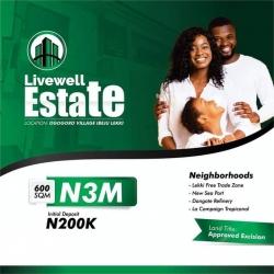 Livewell Estate, Ibeju Lekki Mixed Land for Sale Ibeju Lekki Lagos Vetra  Property