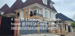 Newly Built 5 Bedroom Detached House In Festac Town Lagos 5 bedroom Detached Duplex for Sale Isolo Lagos Vetra  Property