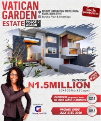 Buy And Build On A Dry And Secured Land. Residential Land for Sale Asaba Delta Vetra  Property